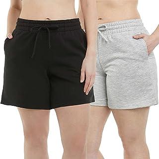 Danskin 女式 2 件装柔软运动短裤