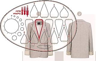 时尚绘图模板的领口尺子,缝纫人性图案设计,服装测量法国曲线尺子 A4 图案纸绘图纸