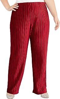 Alfani 女式 Plus 奢华褶皱阔腿休闲裤