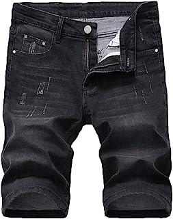 vogstyle 男式修身破洞牛仔裤铅笔裤修身拉链牛仔裤带孔