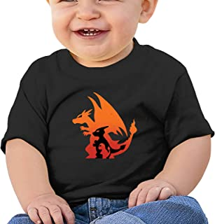 HENWS Poke-Mon 柔软棉质衬衫舒适儿童 T 恤短袖 6 个月-2T