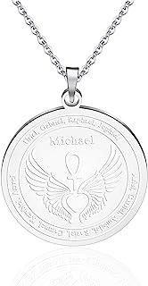 KUIYAI 12 守护天使勋章翅膀心形项链 Ankh 生命力量魔法护身符吊坠天使礼物