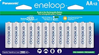 Panasonic 松下电器 eneloop 爱乐普 BK-3MCCA12FA AA 2100循环镍氢预充电电池,12节装