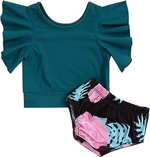 Hipea 女童分体泳衣蝴蝶结 2 件套比基尼泳装沙滩夏季套装