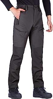 FREE SOLDIER 男式户外防水防风软壳羊毛内衬工装雪徒步裤