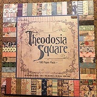 The Paper Studio Theodosia Square 12x12剪贴簿纸垫,180张,复古,蜉蝣,法式,新闻纸