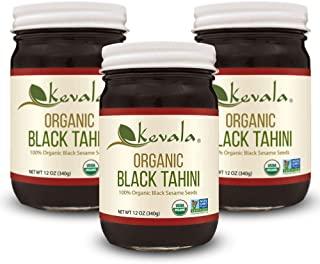 Kevala Organic 黑芝麻酱,12盎司,340克(3瓶),36盎司