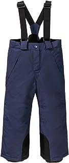 BiyAN9m 婴儿/幼儿胸部保暖雪背带裤,滑雪裤带背带雪服(*蓝背带,2T)