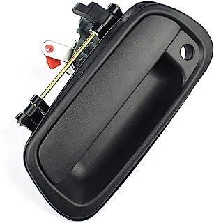 纹理尾门手柄升降门闩手柄带锁孔替换件适用于丰田坦途皮卡 2000-2006 - 后外部纹理黑色 69090-0C010 69090-0C030-C0
