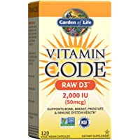 Garden of Life 生命花园 Vitamin Code Raw D3 原生态全食物维生素D 3 补充素食胶囊…