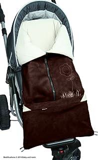 ByBoom – 脚袋 2 合 1 春季,夏季,秋季,通用婴儿座椅,汽车儿童座椅,例如 Maxi-Cosi,罗马人,婴儿车或婴儿车,颜色:棕色/米色