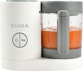 BÉABA Babycook Neo 4 合 1 婴儿食品机 温和蒸锅 不锈钢玻璃壶和烹饪篮 白色