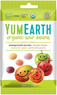 Yumearth Organic Sour Beans, 50 g, Pack of 12