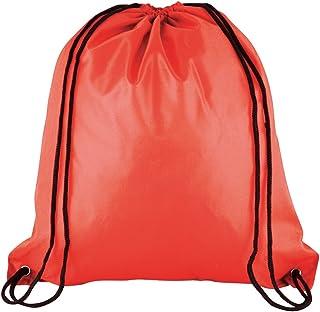 1 x 儿童用拉绳 - 背包适合学校/健身房/健身房/游泳/书本包 红色 42