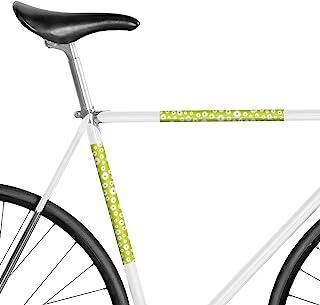 MOOXIBIKE 面板小姐雏菊绿花朵反射,框架保护贴纸适用于赛车、徒步自行车、固定车、山地自行车、荷兰自行车、城市自行车、滑板车、摩托车、摩托车、摩托车、摩托车、摩托车*长约 15 厘米