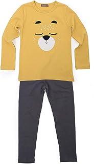 TOTO HEROS 儿童女童男童柔软舒适宽腰图案角色基本款保暖睡衣套装