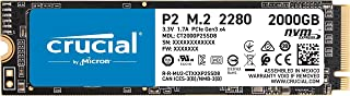 Crucial 美光 P2 2TB 3D NAND NVMe PCIe M.2 SSD 高达 2400MB/s - CT2000P2SSD8
