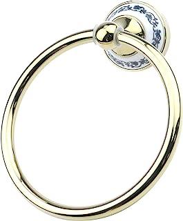 Coshar 不锈钢塔环壁挂架,金色圆形毛巾环,适用于浴室