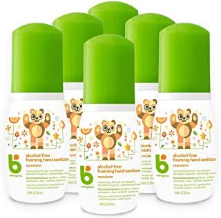 BabyGanics 甘尼克宝贝 无酒精泡沫洗手液,柑橘,便携装,50毫升(1.69-盎司),泵瓶(6件装)