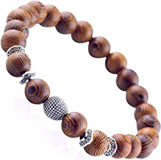 男士木质串珠十字架手链:男孩*次圣餐宗教十字架的确认礼物