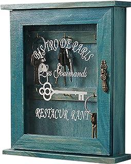 木质钥匙扣,适用于墙壁 6 个钥匙钩,邮件分类架壁挂式,木制邮件架,入口储物柜,乡村装饰和浮动架,适用于家庭、办公室