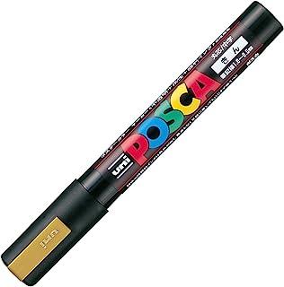 三菱铅笔 水性笔 POSCA 中字 圆芯 金 10本
