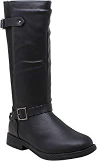 Generation Y 儿童及膝平底靴 女孩 绗缝皮革 蝴蝶结 拉链封口 GY-KB-ICE-66