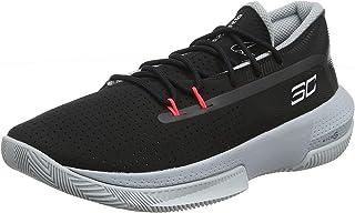 Under Armour 安德玛 中性儿童学前SC 3ZER0 III 篮球鞋,黑色 (001)/Mod 灰色,2