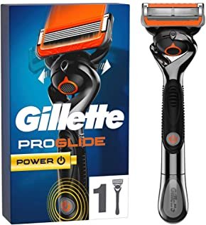 Gillette 吉列 ProGlide Power 男士剃须刀 - 1 个刀片,带 5 个防刺激刀片,可彻底、持久的剃须