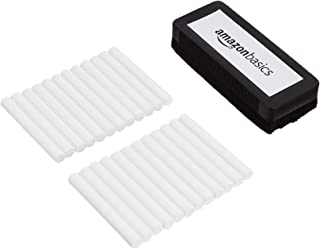 AmazonBasics 亚马逊倍思 无尘粉笔 带橡皮擦 白色 24 支装