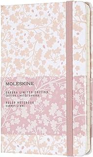 Moleskine 樱花限量版笔记本,口袋型,有横格,白色Wh6,硬封面(3.5 X 5.5)