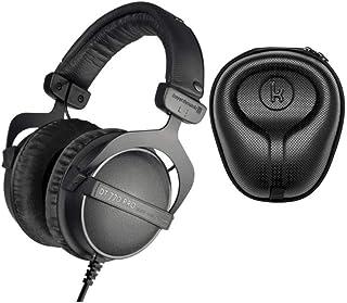 Beyerdynamic 拜亚动力 DT PRO 头戴式耳机(忍者黑,限量版)带 Knox Gear 硬壳耳机套(2 件装) DT770 Limited Edition