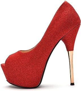 Crystal Queen 女式 金色 舞鞋 闪光 高跟 细跟 露趾 性感 小拖鞋 高跟鞋
