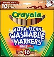 Crayola Ultraclean BL 多元文化记号笔 标准包装 1-Pack of 10