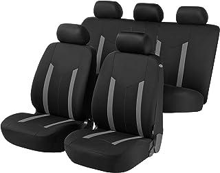 Walser 汽车座套Hastings,汽车座套,全套套装,2个前座套,1个黑色/灰色 11807