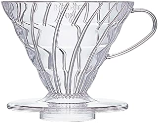 HARIO 好璃奥 滤杯 V60系列咖啡滤杯 手冲滴滤式耐热树脂咖啡滤杯 配量勺VD-02T 透明