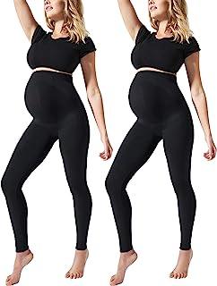 女式孕妇打底裤腹部无缝不透视裤全长修身运动服舒适服装
