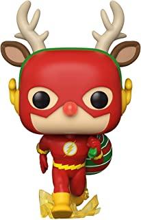 Funko 50654 POP 英雄系列:DC Holiday-Rudolph Flash Comics S1 收藏玩具,多色