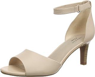 Clarks 女士 Alice Greta 系带高跟鞋