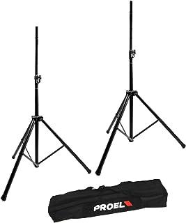 Proel FRE300KIT 35毫米扬声器支架,铝,2件套,手提箱 - 黑色
