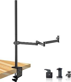 重型桌面高架相机支架钻机,多座,高度和长度可调节,带 360° 球头,适用于家庭和工作室