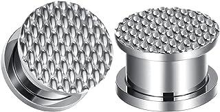 COOEAR 1 对 2 克隧道 0 克插头穿孔耳环不锈钢 00 克耳规压花拉伸器。