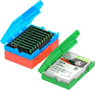 AOJUE 硬盘盒 M.2 SATA NVME SSD存储盒,防静电防震电脑外置硬盘保护盒,可存储M.2 SSD 10PCS(KB04-US-3C)
