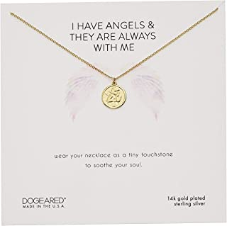 Dogeared 女式 I Have Angels & They are Always with Me 迷你天使项链