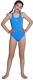 Speedo 速比涛 女童 Essential Endurance+ Medalist连体泳衣,30,Neon Blue