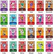 24 张 NFC 卡,用于动物穿越新地平线房车村民家具 ACNH 卡,用于开关/Switch Lite/Wii U/New 3DS 带存储盒