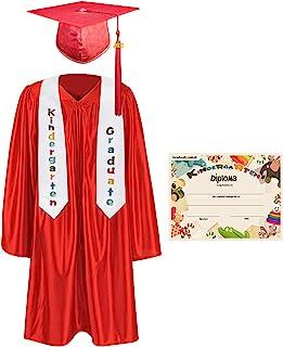 GraduationMall 幼儿园毕业帽长袍披肩包装,带 2021 流苏,证书