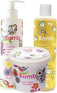 Bomb Cosmetics Honey Glow 洁面乳,去角质和保湿沐浴套装