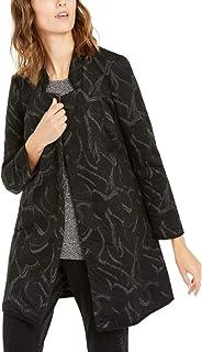 Alfani 金属印花提花装饰夹克,黑色/银色 S 码