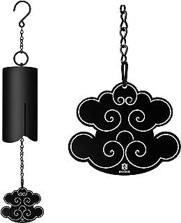 Snveod 户外大风铃,吉祥云的风铃,英勇风铃,外深音的风铃,纪念风铃,失去爱人的一个 Prime.哑光黑色 35 英寸